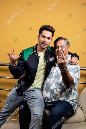 David Dhawan with his son Varun Dhawan
