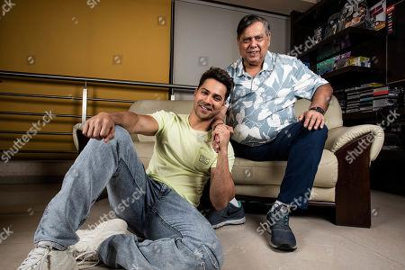 Editorial picture of David Dhawan and Varun Dhawan photocall, Mumbai, India - 16 Jun 2019
