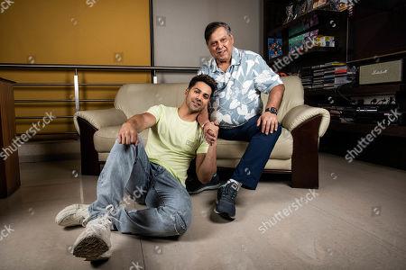Editorial image of David Dhawan and Varun Dhawan photocall, Mumbai, India - 16 Jun 2019