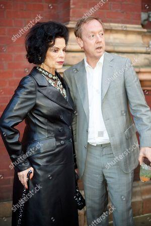 Bianca Jagger and Geordie Greig