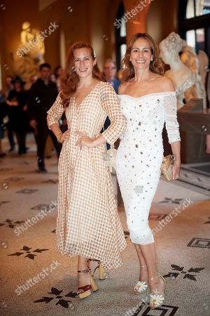 Stock Image of Charlotte Dellal and Andrea Dellal