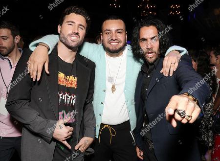 Brody Jenner, Frankie Delgado and Justin Brescia