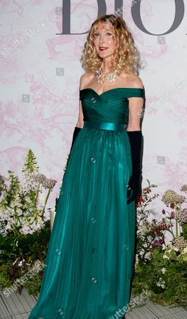 Basia Briggs, Seen arriving for the V&A Summer Party, at the Victoria and Albert Museum,