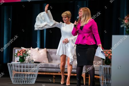 Stock Photo of Former Australian foreign minister Julie Bishop (L) speaks during a Business Chicks Breakfast at the Adelaide Convention Centre in Adelaide, Australia, 20 June 2019.