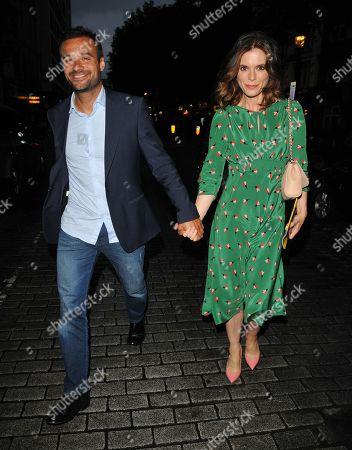 Luc Chaudhary and Emilia Fox
