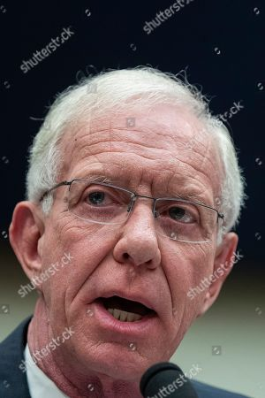 Stock Image of Captain Chesley Sullenberger testifies to United States House of Representatives House Transportation subcommittee during a hearing on the Boeing 737 MAX
