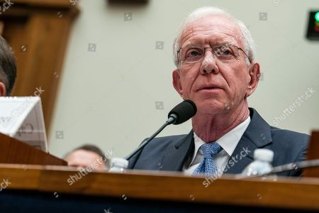 Stock Photo of Captain Chesley Sullenberger testifies to United States House of Representatives House Transportation subcommittee during a hearing on the Boeing 737 MAX