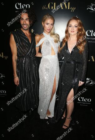 Stock Image of Joey Maalouf, Paris Hilton, Katrina Barton