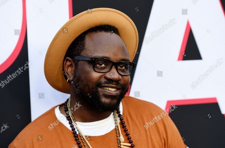 "Brian Tyree Henry, a cast member in ""Child's Play,"" poses at the premiere of the film at the ArcLight Hollywood, in Los Angeles"