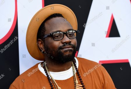 """Brian Tyree Henry, a cast member in """"Child's Play,"""" poses at the premiere of the film at the ArcLight Hollywood, in Los Angeles"""