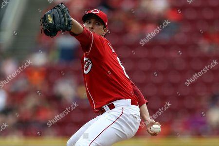 Cincinnati Reds' Matt Bowman throws in a baseball game against the Houston Astros, in Cincinnati. The Reds won 3-2