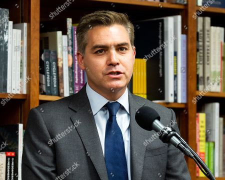 Stock Photo of Author Jim Acosta at the Politics and Prose bookstore