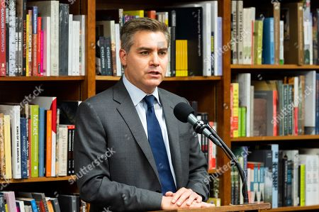 Stock Image of Author Jim Acosta at the Politics and Prose bookstore
