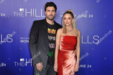 """Brody Jenner, Kaitlynn Carter. Brody Jenner, left, and Kaitlynn Carter attend """"The Hills: New Beginnings,"""" premiere party at Liaison, in Los Angeles"""