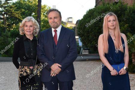 Marina Cicogna, Franco Nero, Jacqueline Luna Parisi