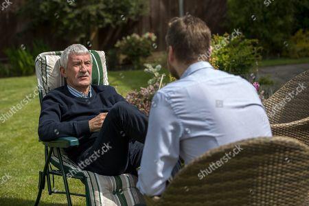 Stock Image of Terry Mcdermott . Ex-liverpool And England Footballer Terry Mcdermott Talks To Craig Hope.