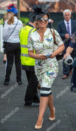 Racegoers Attending The Investec Oaks Prior To The Derby At Epsom In Surrey. Celebreties Include Tv Presenter Susannah Reid. 01/06/2018.