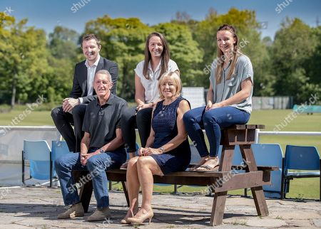 Kate Cross And Family At Heywood CC. Clan Cross: Former Footballer David Cross And Wife Christine With Club Manager Bobby Cricketer Kate And Physiotherapist Jenny At Heywood Cricket Club. Feature With Paul Newman