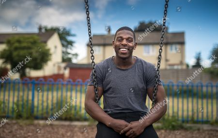 Huddersfield Giant Rugby League Player Jermaine Mcgillvary On The Park Where He Played As A Child. Interview With George Clarke