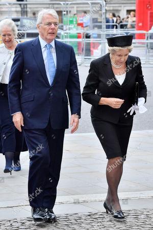 Stock Photo of Sir John Major and Norma Major