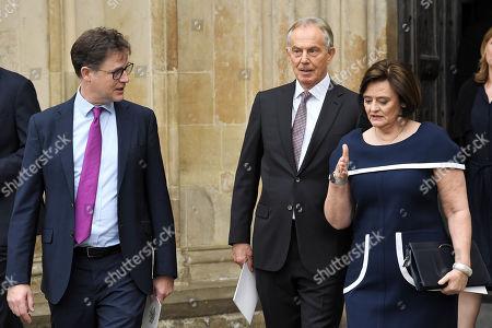 Nick Clegg, Tony Blair and Cherie Blair