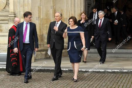 Nick Clegg, Tony Blair, Cherie Blair and Gordon Brown