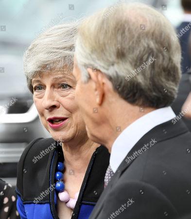 Theresa May and Tony Blair