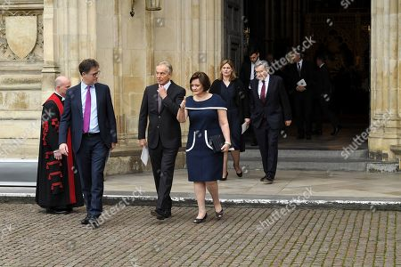 Nick Clegg, Tony Blair, Cherie Blair, Sarah Brown and Gordon Brown
