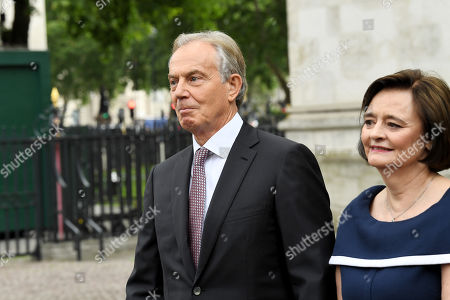 Stock Image of Tony Blair and Cherie Blair