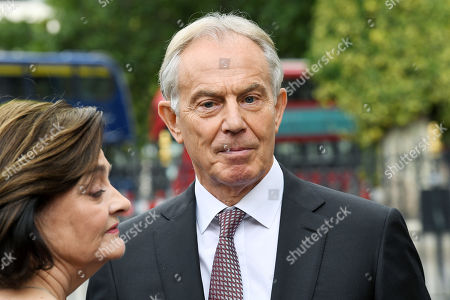 Stock Picture of Tony Blair and Cherie Blair