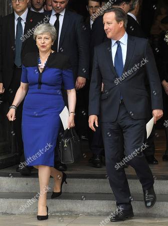 Stock Image of Theresa May and David Cameron