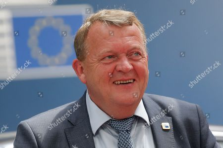 Denmark's Prime Minister Lars Lokke Rasmussen arrives for a European Council Summit in Brussels, Belgium, 20 June 2019. European leaders are meeting in Brussels on 20 and 21 June to discuss new leadership posts for the EU's next institutional cycle and adopt the bloc's strategic agenda for 2019-2024; they will also focus on climate, disinformation, long-term EU budget and external relations.