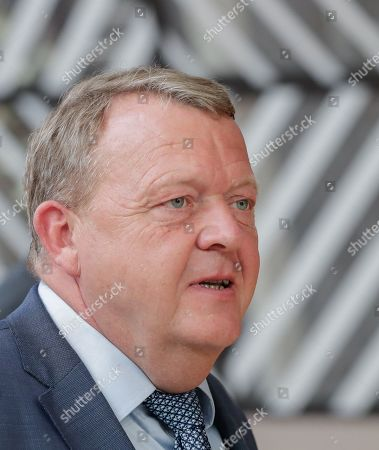Stock Photo of Denmark's Prime Minister Lars Loekke Rasmussen arrives for a European Council Summit in Brussels, Belgium, 20 June 2019. European leaders are meeting in Brussels on 20 and 21 June to discuss new leadership posts for the EU's next institutional cycle and adopt the bloc's strategic agenda for 2019-2024; they will also focus on climate, disinformation, long-term EU budget and external relations.