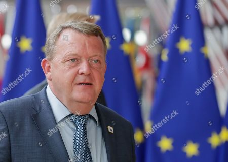 Denmark's Prime Minister Lars Loekke Rasmussen arrives for a European Council Summit in Brussels, Belgium, 20 June 2019. European leaders are meeting in Brussels on 20 and 21 June to discuss new leadership posts for the EU's next institutional cycle and adopt the bloc's strategic agenda for 2019-2024; they will also focus on climate, disinformation, long-term EU budget and external relations.