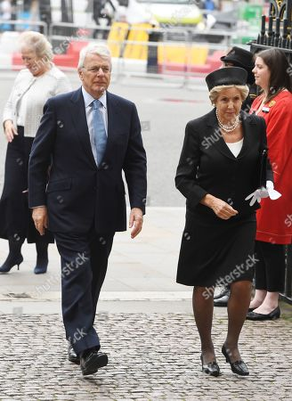 Former British Prime Minister, John Major and his wife Lady Norma Major arrive for a service of thanksgiving for the life and work of former Cabinet Secretary Lord Heywood in the Westminster Abbey in central London, Britain, 20 June 2019. Jeremy Heywood served as British Cabinet Secretary from 01 January 2012, and Head of the Home Civil Service from September 2014, until stepping down in October 2018.