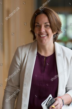 Stock Picture of Scottish Parliament First Minister's Questions - Kezia Dugdale makes her way to the Debating Chamber.