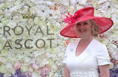 TV weather presenter Carol Kirkwood on Ladies Day at Royal Ascot