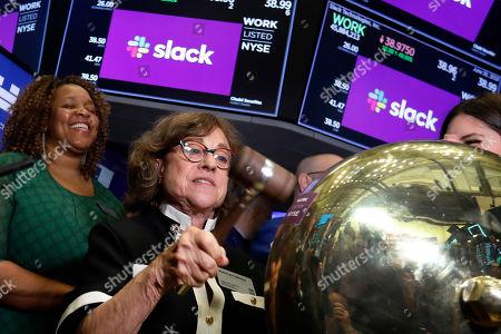 Editorial image of Financial Markets Wall Street Slack IPO, New York, USA - 20 Jun 2019