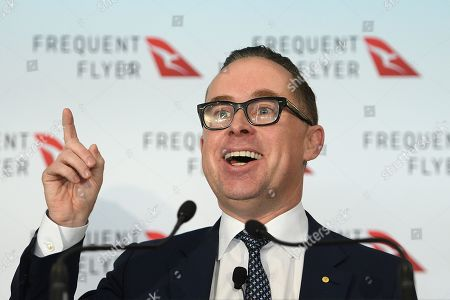 Qantas Group CEO Alan Joyce speaks during a Frequent Flyer program announcement at the Sydney Cricket Ground, in Sydney, New South Wales, Australia, 20 June 2019. Qantas has announced a 25 million Australian dollar (17.3 million US dollar) overhaul of its frequent flyer program, cutting fees and making it easier for passengers to cash in their points.