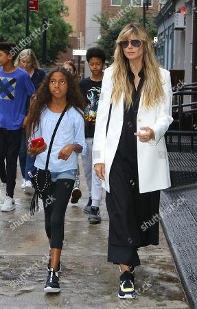 Heidi Klum with Lou Sulola Samuel