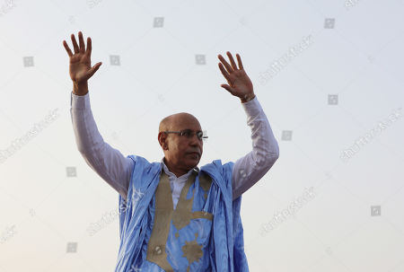 Mohamed Ould Cheikh Mohamed Ahmed Ghazouani, addresses the final rally in Nouakchott, Mauritania, 20 June 2019. Mauritania will vote on 22 June for the first round of a presidential election for a successor to President Mohamed Ould Abdel Aziz, who is stepping down after his second and final term in office.