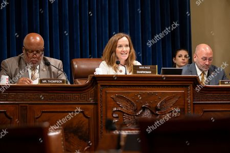 United States Representative Kathleen Rice (Democrat of New York) delivers opening statements