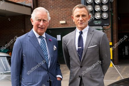 Prince of Wales tours set of James Bond film, Pinewood Studios