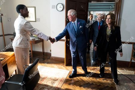 Prince Charles meets British actor Lashana Lynch