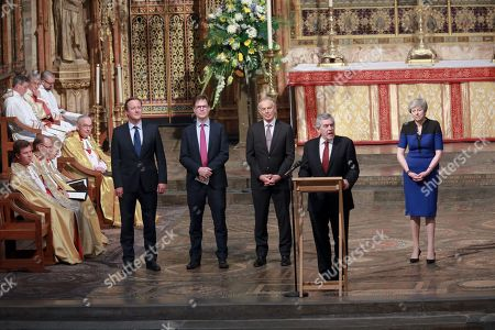 Tony Blair, Gordon Brown, Sir Nick Clegg, David Cameron and Theresa May