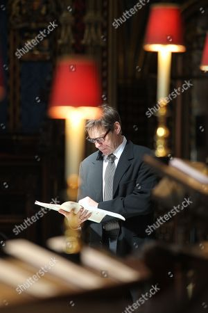 Stock Photo of Sir Simon Keenlyside CBE sings The Anthem during rehearsals.