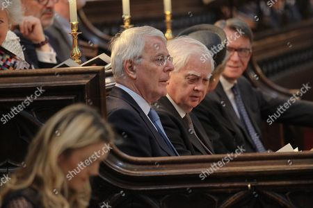 Norman Lamont and Sir John Major in the Quire.