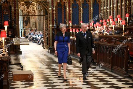 Stock Photo of Norman Lamont and Sir John Major in the Quire.