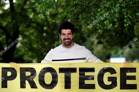 Spanish actor Miguel Angel Munoz takes part in Greenpeace campaign on protection oceans in Madrid, Spain, 20 June 2019.