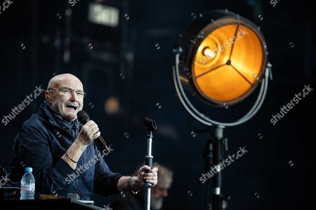 Phil Collins performs on stage at Goffertpark as part of his Still Not Dead Yet-tour in Nijmegen, The Netherlands, 20 June 2019. It is the first time in 14 years that Collins performs in Netherlands.